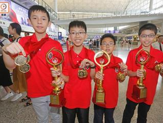 小學生出戰印度數學競賽 獲全場大滿貫佳績