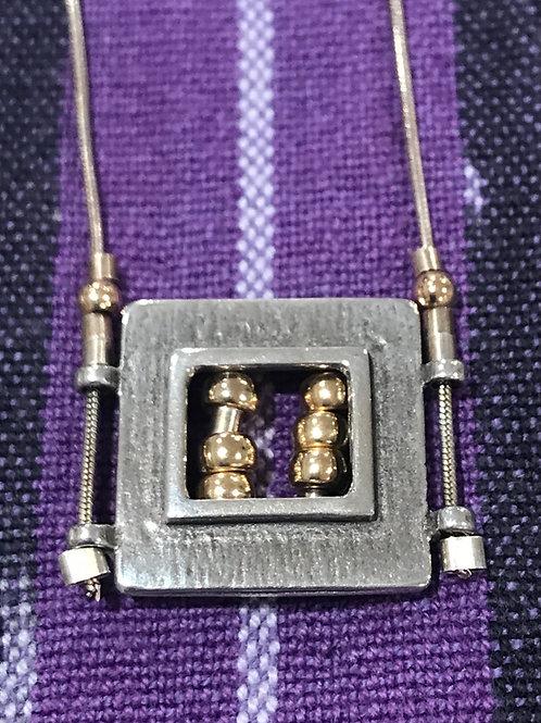Sterling/Gold Filled Rectangular Necklace