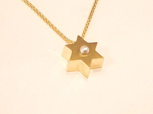Star of David Small Chunky Pendant