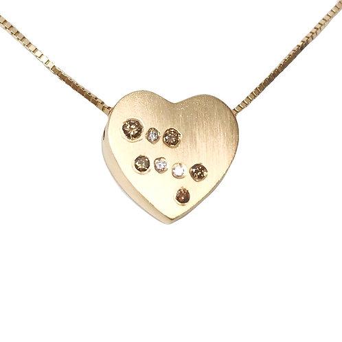 Champagne Diamond Heart