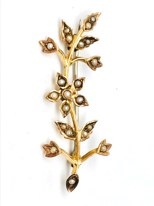 Vintage Seed Pearl Brooch
