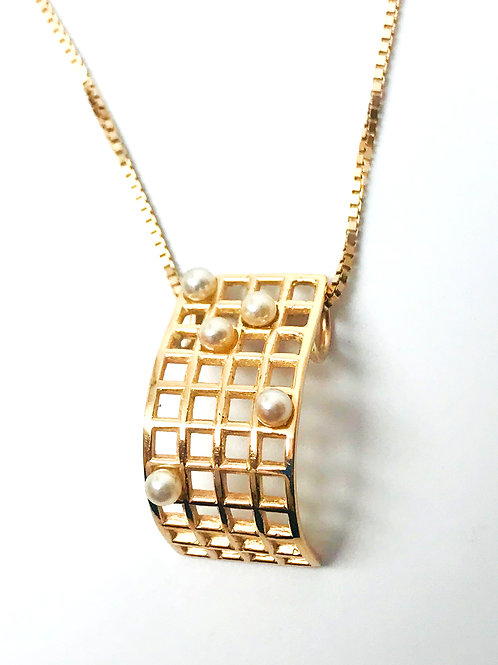 Curved Grid Pendant