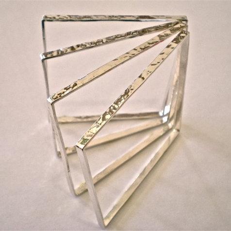 Sterling Silver Square Bangle Bracelet