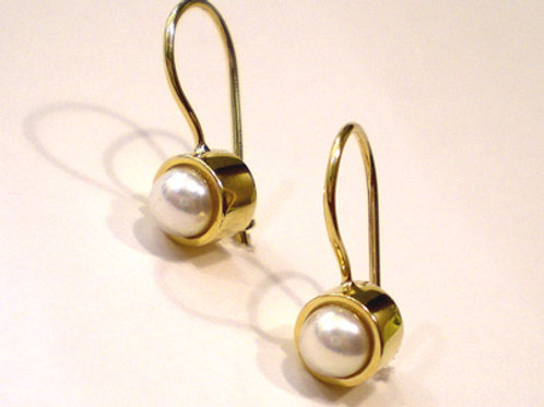 Bezel Akoya Pears on Wires