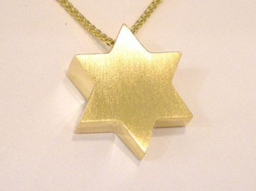 Large Solid Star of David pendant