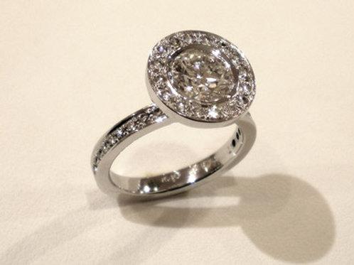 Custom Made Pave Platinum Ring