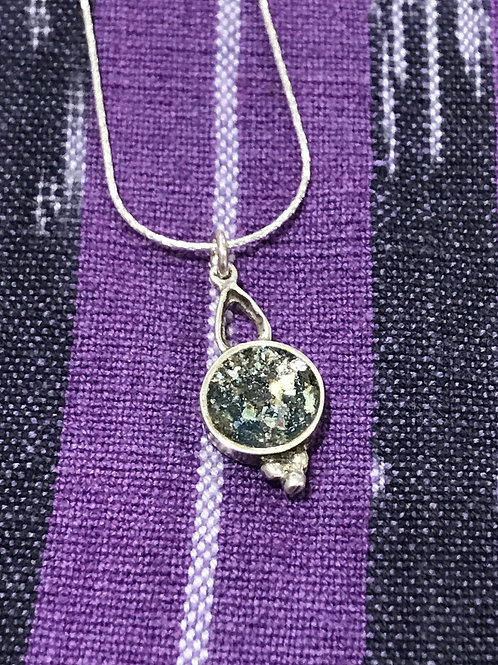 Small Round Pendant with Detail