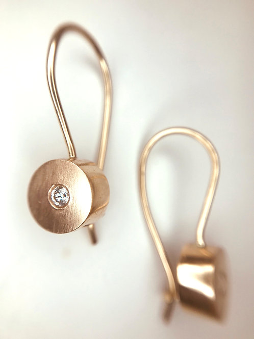 Diamond Stud Earrings on Wires
