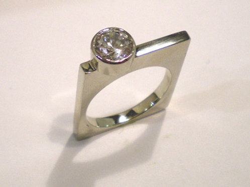 Thinner Tall Square Ring