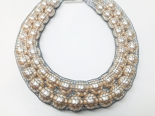 Double White Pearl Necklace
