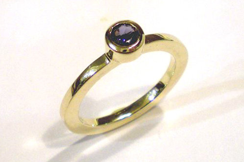 Round, Flat Stackable Ring