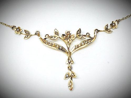 Vintage Seed Pearl Pendant