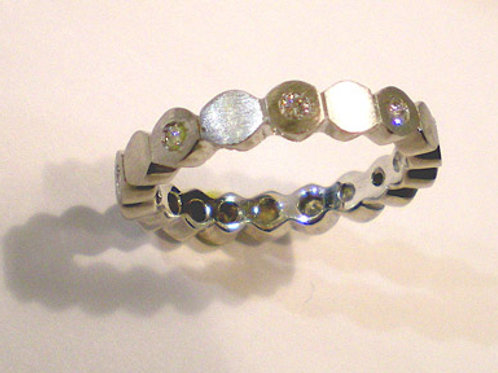 Band of Small Buttons with Diamonds