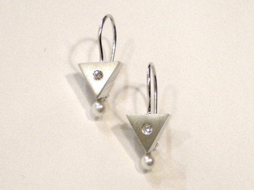 Triangle Earrings on Wires