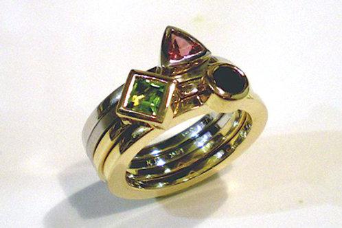 Stackable Semi-Precious Gemstone Rings