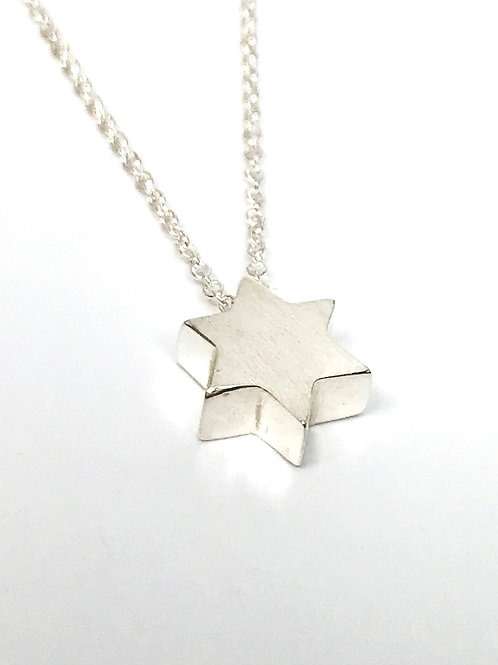 Small Matte Star of David pendant