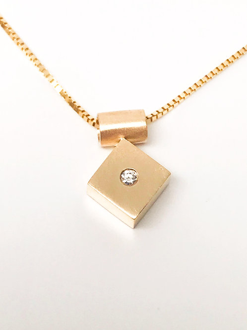 Square Pendant with Diamond
