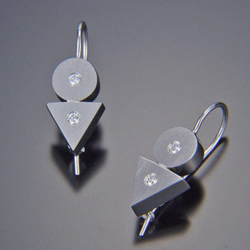 Round/Triangle Earrings on Wires