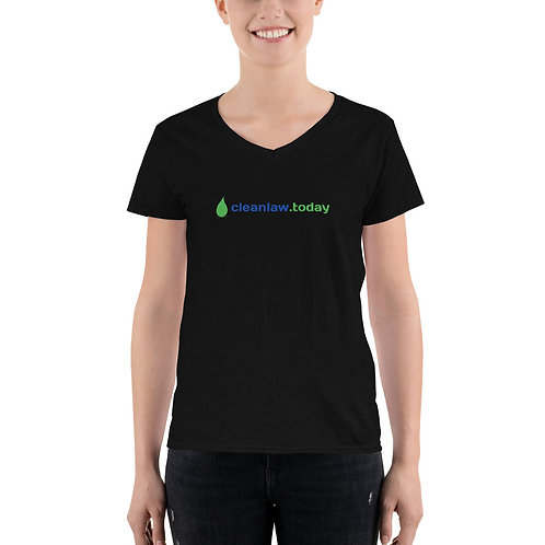 Women's Casual V-Neck Shirt