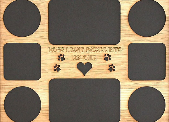11x14 Dogs Leave Pawprints Wood Photo-Picture Mat Collage Insert