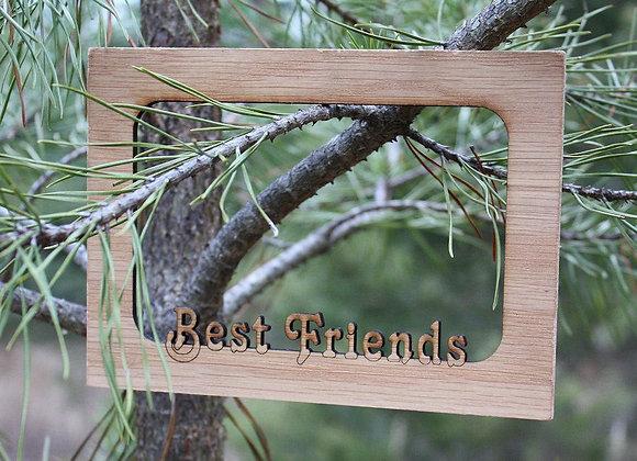 5x7 Best Friends, BFF, Pals, Forever Buddies custom wood mat for frame