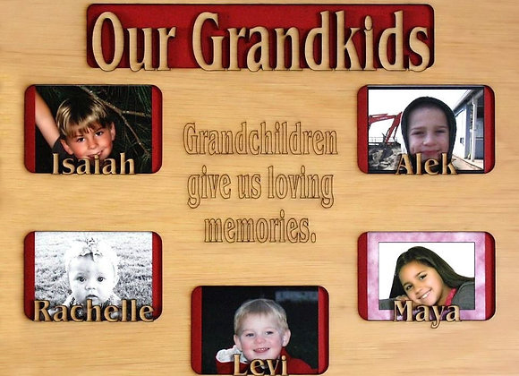 1 to 5 Grandkids Names Mat Insert (ONLY) for 11x14 Picture Frame