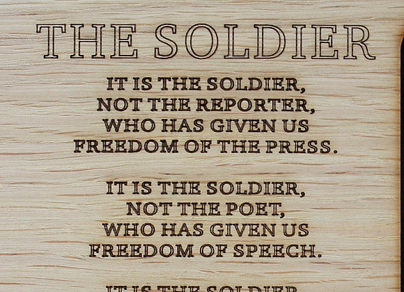 8x10 The Soldier Poem Army Custom Wood Picture Mat Insert or Frame