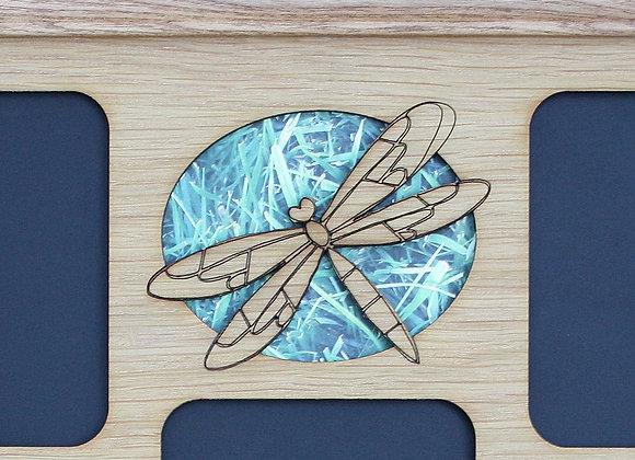 11x14 Dragonfly Wood Mat Collage Insert Decor for Frame Great Gift for Gardener