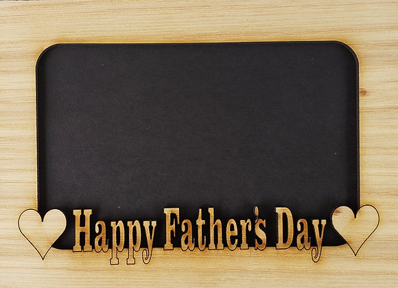 5x7 Happy Father's Day matte INSERT fits into a 5x7 picture frame