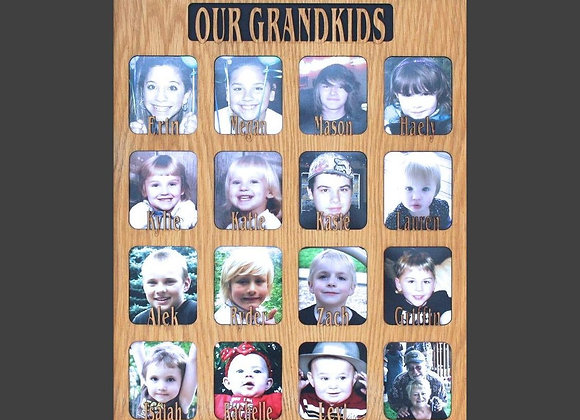 1 to 16 Grandkids Names Mat Insert (ONLY) for 16x20 Picture Frame