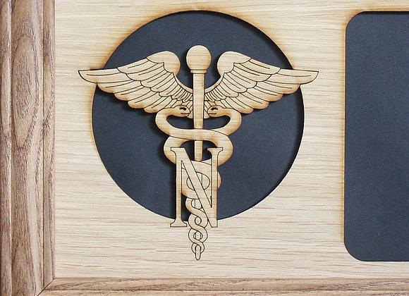 11x14 Nurses Prayer Logo Badge Custom Wood Mat Collage Insert w/Custom Personal