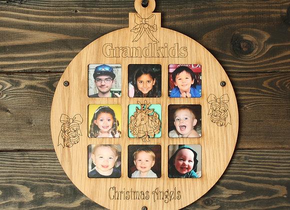 "8.5"" Christmas Ornament 8 Grandkids Photo Picture Frame"