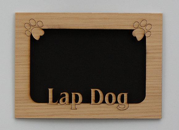 5x7 Lap Dog Pet Wood Photo-Picture Mat Insert