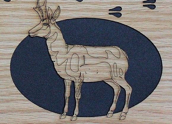 11x14 Custom Pronghorn Antelope Hunting mat for frame – wood mat insert only