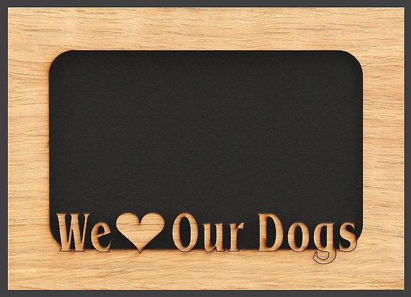 5x7 Dog Picture Frame Mat Insert for Frame - Dog Paw - Dog Photo Frame