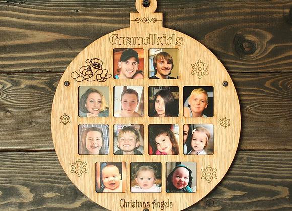 "8.5"" Christmas Ornament 13 Grandkids Photo Ornament Grandkids Picture Frame"