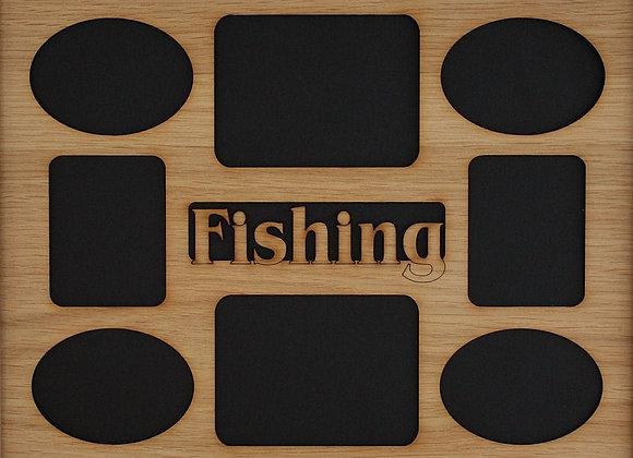 11x14 Fishing Picture Frame Collage Mat Insert - Fishing Gift - Fishing Decor