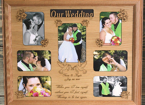 16x20 Personalized Wedding Picture Mat Insert ONLY, Wedding Gift, Gift for Bride
