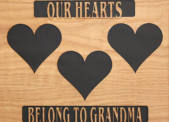 11x14 Grandma mat insert collage for picture frame (NOT INCLUDED)