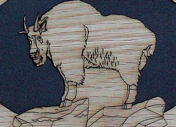 11x14 Custom Mountain Goat Hunting mat for frame – wood mat insert only