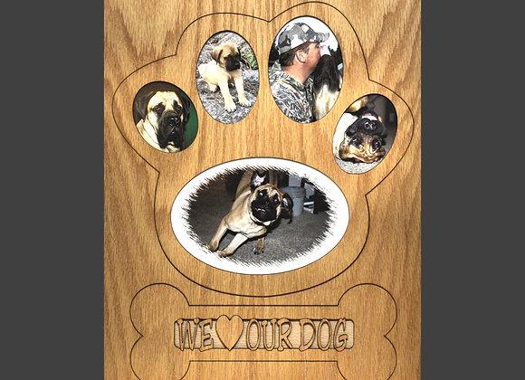 11x14 Dog Picture Frame Collage Mat Insert for Frame - Dog Paw - Dog Photo Frame