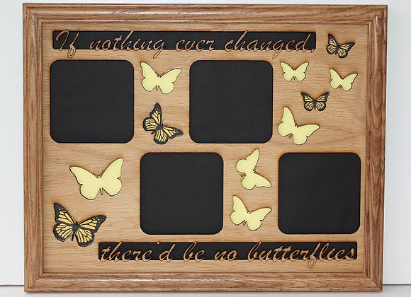 11x14 Butterfly Picture Frame Collage Mat Insert with Inspirational Quote - Wall
