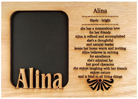 5x7 Name Meaning Mat Insert for 5x7 Picture Frame Name Meaning Frames