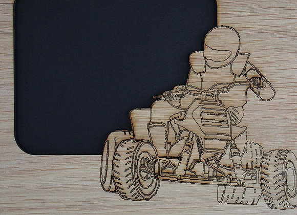 11x14 ATV 4-Wheeler Wood Photo-Picture Mat Collage Insert