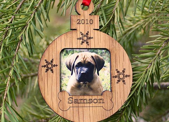 "3"" Personalized Dog Ornament Christmas Ornament Photo Ornament Small Frame Dog F"