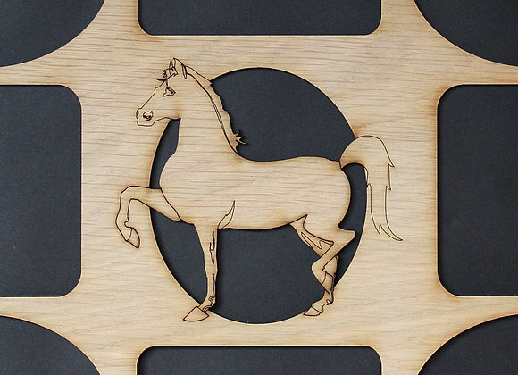 11x14 Horse Wood Photo-Picture Mat Collage Insert