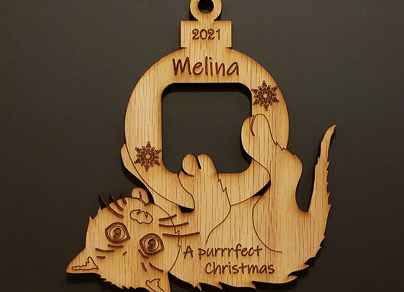 Personalized Cat Christmas Ornament Cat Picture Ornament Funny Cat Gifts For Cat