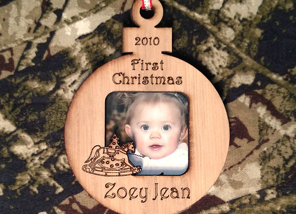 """3"""" Babys First Christmas Ornament - Babys 1st Christmas Personalized Ornament â€"""