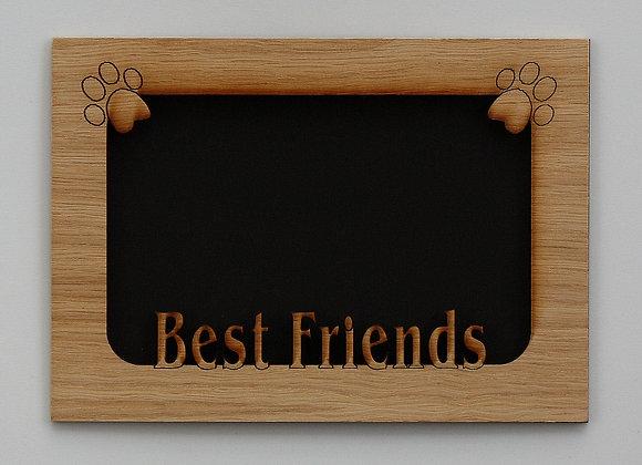 5x7 Best Friends Dog Pet Wood Photo-Picture Mat Insert