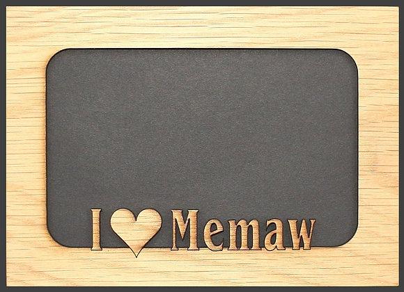 5x7 I Love Memaw mat insert for picture frame – Memaw gifts